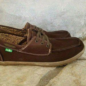 Sanuk Mens Sz 10.5 Brown Canvas Shoes Loafers